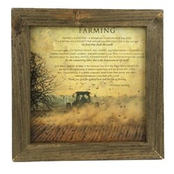 Bonnie Mohr Farming Quote Print with Rustic Tobacco Lath Board Frame