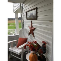 Fall Pumpkins for Sale Print with Rustic Tobacco Lath Board Frame