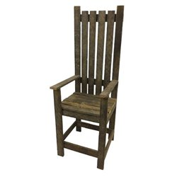 Decorative Chair with Arms from Reclaimed Tobacco Lath Board