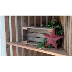 Decorative Candle Box/ Small Crate from Reclaimed Tobacco Lath Board