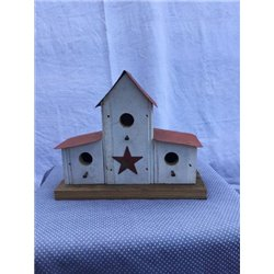 Small Double Lean-To Bird House in Barn Wood