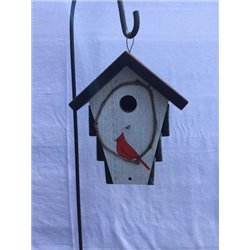 Corn Crib Style  Bird House w/ Wire Hanger & Clean Out