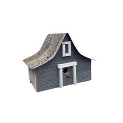 Antique A-Frame Bird House w/Wire Hanger & Clean Out