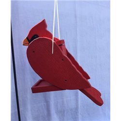 Hanging CARDINAL Shaped Bird Feeder