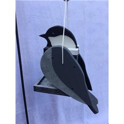 Hanging CHICKADEE Shaped Bird Feeder
