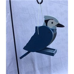 Hanging Blue Jay Shaped Bird Feeder