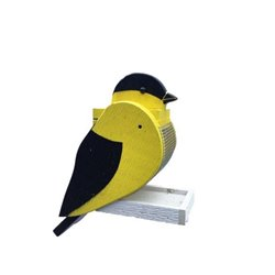 Hanging GOLD FINCH Shaped Bird Feeder