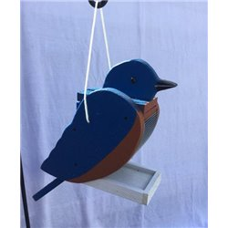 Hanging BLUE BIRD Shaped Bird Feeder