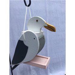 Hanging SEAGULL Shaped Bird Feeder
