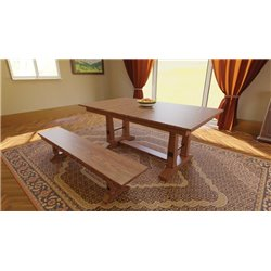 Carla Elizabeth Double Pedestal 6 Foot Dining Table W Self Extentions