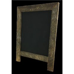 Chalkboard Easel made with Rustic Tobacco Lath Board Frame