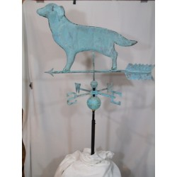 Outdoor Copper Dog Weathervane - Patina Finish