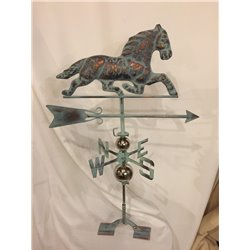 3 Dimensional PACING HORSE Weathervane - Patina Finish