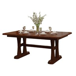 Gateway 6 Foot Double Pedestal Dining Table Solid or Expandable