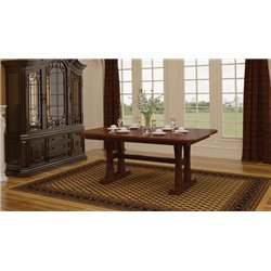 Bridgeport Double Pedestal 6 Foot Dining Table Solid Top or Extension