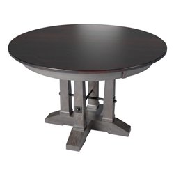 "Single Pedestal 48"" Round Carla Elizabeth Table Solid or Extension Top"