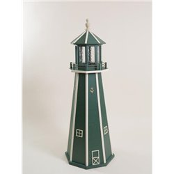 Green with Beige Wood Lighthouse in 3ft / 4ft / 5ft