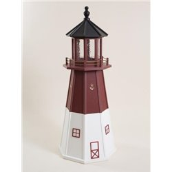 Red and White Wood Lighthouse in 3ft / 4ft / 5ft - Barnegat NJ Replica