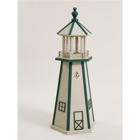 Beige with Green Wood Lighthouse in 3ft / 4ft / 5ft