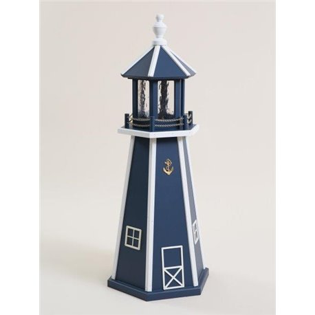 Navy Blue with White Wood Lighthouse in 3ft / 4ft / 5ft