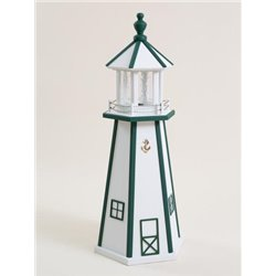White with Green Wood Lighthouse in 3ft / 4ft / 5ft