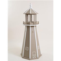 Clay with White Wood Lighthouse in 3ft / 4ft / 5ft