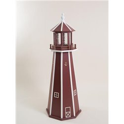 Red with White Poly Lumber Lighthouse in 3ft / 4ft / 5ft