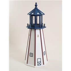 Red, White, & Blue Poly Lumber Lighthouse in 3ft / 4ft / 5ft - American