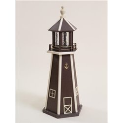 Brown with Beige Poly Lumber Lighthouse in 3ft / 4ft / 5ft