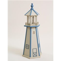 Beige with Blue Poly Lumber Lighthouse in 3ft / 4ft / 5ft