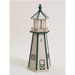 Beige with Green Poly Lumber Lighthouse in 3ft / 4ft / 5ft