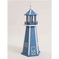 Blue with White Poly Lumber Lighthouse in 3ft / 4ft / 5ft