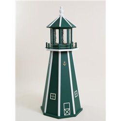 Green with White Poly Lumber Lighthouse in 3ft / 4ft / 5ft