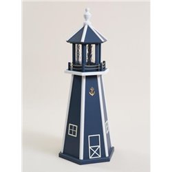 Navy Blue and White Poly Lumber Lighthouse in 3ft / 4ft / 5ft