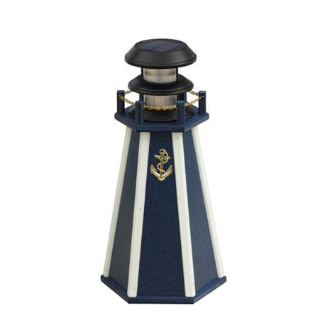 """Solar Accent 18"""" Lighthouse in Poly Lumber"""