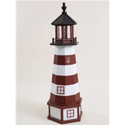 Deluxe Wood Lighthouse with Poly Top and Base - Assateague, VA
