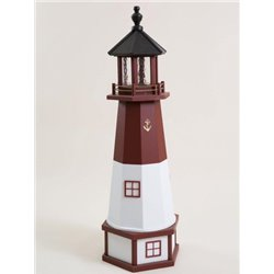 Deluxe Wood Lighthouse with Poly Top and Base - Barnegat, NJ Replica