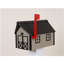 Outdoor Poly Lumber Mailbox in Clay with Black Trim