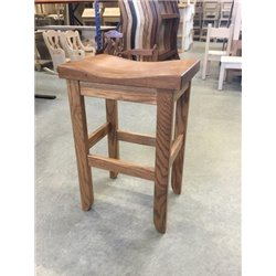 Oak Saddle Top Stool in Dining, Counter, or Bar Height