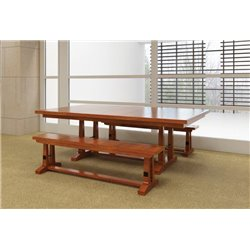 Brown Maple 6 Foot Carla Elizabeth Dining Bench - Paired with Carla Table