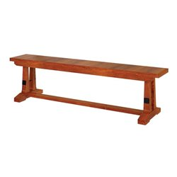 Brown Maple 6 Foot Carla Elizabeth Dining Bench