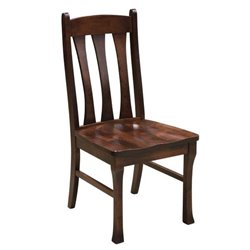 Set of 2 Cluff Dining Side Chair in Brown Maple