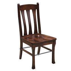 Set of 2 Cluff Dining Side Chair with Steel Rod in Brown Maple