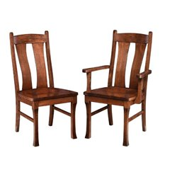 Set of 2 Gateway Dining Side or Arm Chairs in Brown Maple