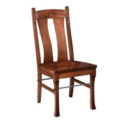 Set of 2 Gateway Dining Side Chairs with Steed Rod in Brown Maple
