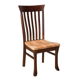Set of 2 Valarie Dining Side Chairs in Brown Maple & Hickory