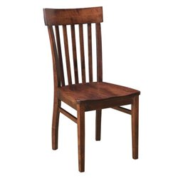 Set of 2 Venice Dining Side Chairs in Brown Maple with Asbury Stain