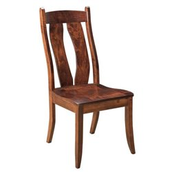 Set of 2 Bridgeport Dining Side Chairs in Brown Maple with Asbury Stain