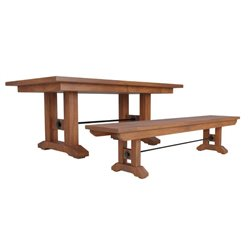 Taylor Double Pedestal 6 Foot Dining Table Solid Top or Extension