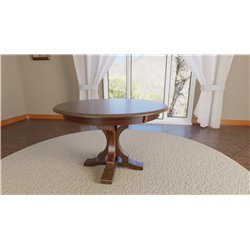 Gatlin Single Pedestal Round 48 inch Table with Solid or Expandable Top